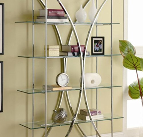 Admirable Etagere Shelves 72 Storage Chrome 4 Shelves Of Tempered Home Remodeling Inspirations Basidirectenergyitoicom