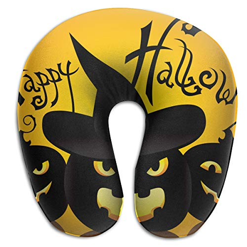 FULIHUA Staying Spooky Happy and Healthy On Halloween U-Shaped Neck Pillow for Flight, Train, Car, Office Naps and People with Cervical Problems One Size