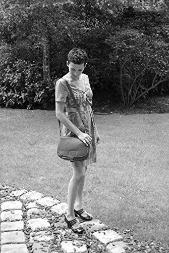 à MY Sac main OH cuir femme Vintage Modèle BAG Clair Cognac Ax1qqt