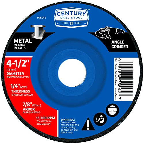 Century Drill and Tool 75544 Metal Grinding Wheel, 4-1/2-Inch