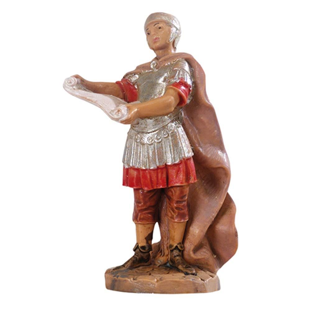 Fontanini soldat avec parchemin 6,5/cm en r/ésine Figurine cr/èche f-258