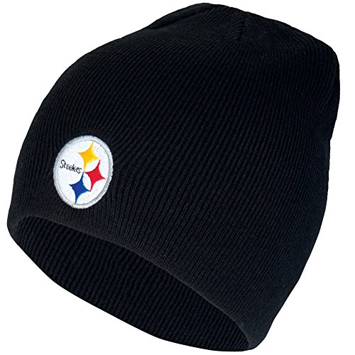 Pennant Steelers Pittsburgh Throwback (NFL Pittsburgh Steelers '47 Beanie Knit Hat, Black, One Size)