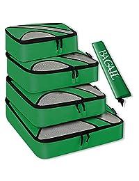 Juego de 4cubos de embalaje, equipaje de viaje organizadores de embalaje con bolsa de lavandería o bolsa de aseo