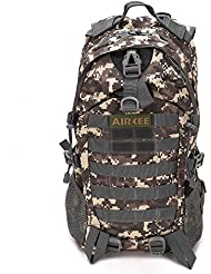 Aircee (TM) Camping Hiking Traveling Pack Trekking Rucksacks Tactical Camoufalge Army Military Waterproof Backpack