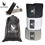 maors - Hip Resistance Bands, Non Slip, Set of 3 Fitness Loop Circle, Perfect for Crossfit - Booty Workout - beachbody - Physical Therapy. Activate Glutes & Thighs