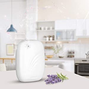 Scent Air Machine for Essential Oils Cordless No Water No Heat Non Ultrasound Large Capacity (120ml/Bottle) Programmable Timer for Large Living Room and Commercial