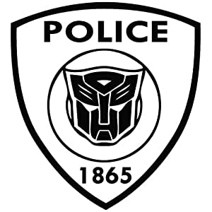 transformer police movie decal vinyl car wall laptop