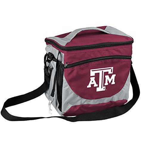 (NCAA Texas A&M Aggies 24-Can Cooler with Bottle Opener and Front Dry Storage Pocket)
