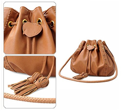 Bag Leather D'autres Faux Calfskin 01black hauteurs Tassel Hobo Drawstring 0qRvw