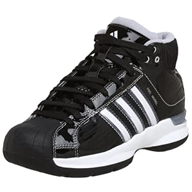 adidas Women's Pro Model 08 Team Color Basketball Shoe,Black/Black/Silver,6 M