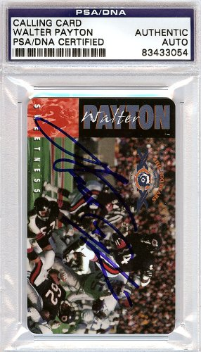 WALTER PAYTON AUTOGRAPHED PHONE CARD CHICAGO BEARS PSA/DNA STOCK #60891 from MillCreekSports