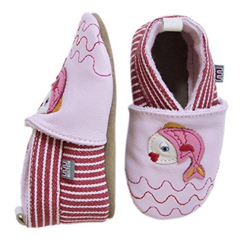 Melton Krabbelschuh Fischlein - Pantuflas Bebé-Niños Varios Colores - Mehrfarbig (Baby pink 504)