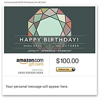 Amazon Gift Card - Email - Birthday Birthstone: October (Opal) (B00N5948YW) | Amazon price tracker / tracking, Amazon price history charts, Amazon price watches, Amazon price drop alerts
