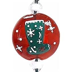 Linpeng 3D Hand Painted Murano Pendant Silk Cord Necklace