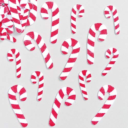 Baker Ross Candy Cane Felt Stickers (Pack of 100) Self Adhesive Puffy Scrapbook Stickers