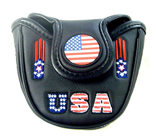 Ball Putter Odyssey 2 Headcover (NEW USA America Flag Fits Odyssey Mallet 2-Ball Magnetic Putter Headcover)