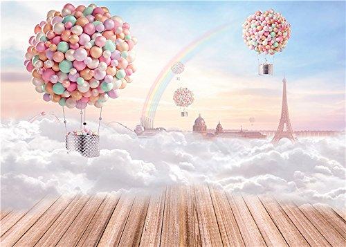 Qian Photo Studio Baby Background Props 7x5ft Children Photography Rainbow Backdrops qx03