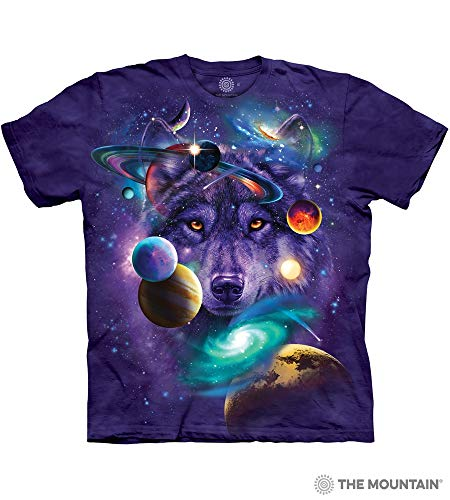 Purple Wolf - The Mountain Wolf Of The Cosmos Adult T-Shirt, Purple, Medium