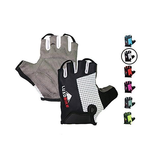 Antiskid Cycling Gloves Bike Half Finger Gloves Short Finger Sports Gloves Padde