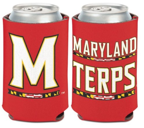 (NCAA University Maryland Terrapins Terps 1 Pack 12 oz. 2-Sided Can Cooler)