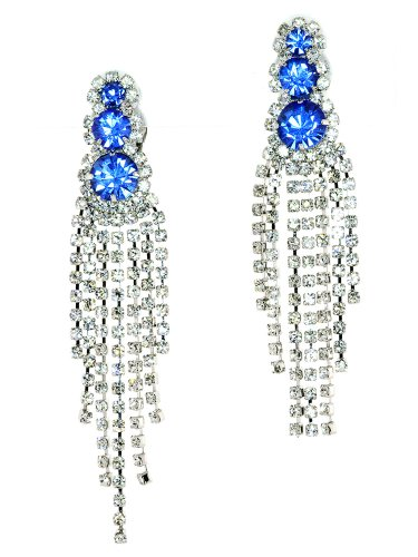 (Glamour Seven Line Chandelier Dangle Duster Simulated Rhinestone-