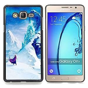 """Planetar ( Azulejos Negro Blanco Hermoso texto"""" ) Samsung Galaxy On7 O7 Fundas Cover Cubre Hard Case Cover"""