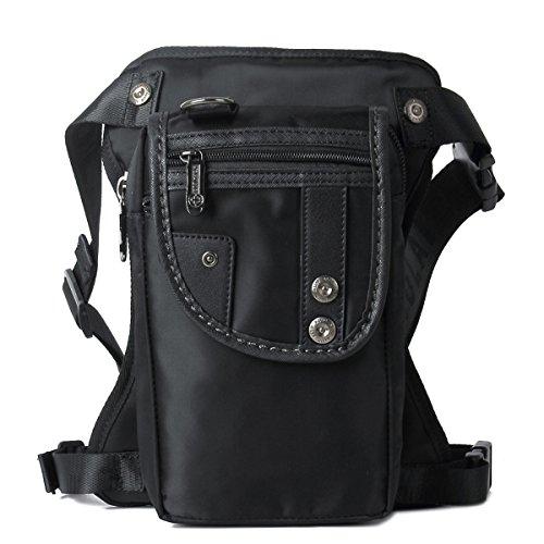 Vintage Purses Ebay - Sunmig Men Multi-Purpose Leg Bag Military Drop Bag Outdoor Waist Bag (Black)
