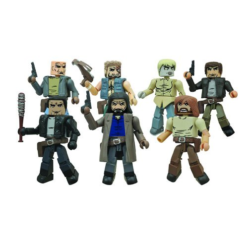 Walking Dead Minimates Series 7 set of 4 2-packs