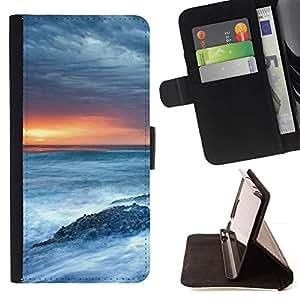 Momo Phone Case / Flip Funda de Cuero Case Cover - Naturaleza Mar Remolinos - HTC Desire 626