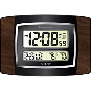 Amazon Com Sharp Spc900wg Digital Atomic Wall Clock Large