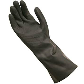 SAFEYURA� Neoprene Rubber Safety Hand Gloves for Acid and Caustics Chemical, Oil & Solvents -Excellent Results Guaranteed