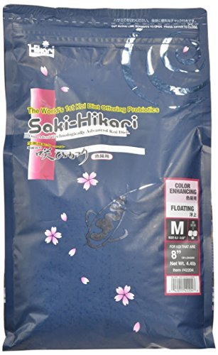 Saki-Hikari 4.4-Pound Color Enhancing Floating Pellets for Pets, Medium