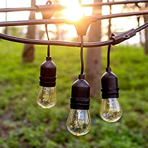 Sokani 24 Ft Long Patio Outdoor String Lights Weatherproof Commercial Grade Great for Party Christmas Halloween Backyard…