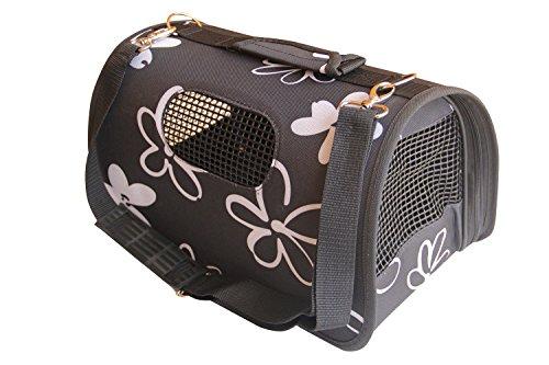 BPS (R) Portador Transportín Bolsa Bolso de Tela para Perro, Gato, Mascotas, Animales,Tamaño:(L,51x26x29cm) (Negro)