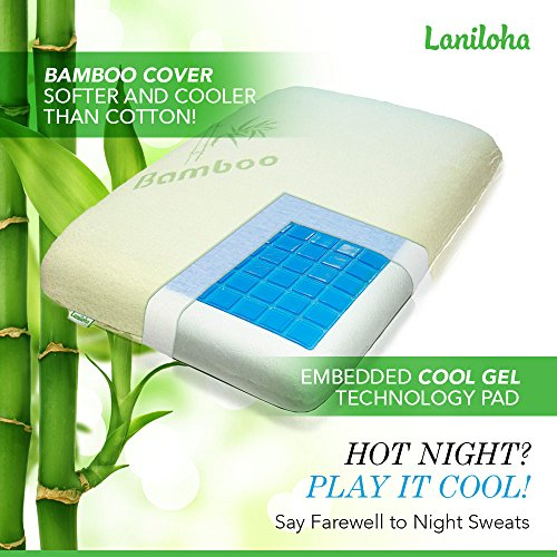 Laniloha Orthopedic Bamboo Queen Memory Foam Pillow With