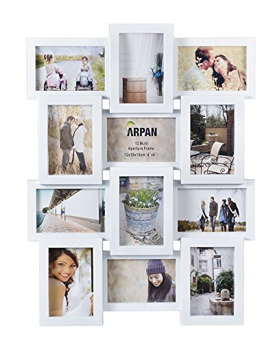 Arpan Multi Apperture Picture/Photo frame, Holds 12 x 6\'\'X4\'\' Photos ...
