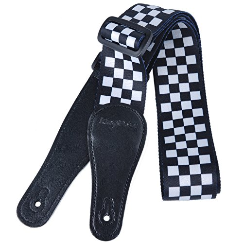 KingPoint Polyester Dacron Guitar Straps With Lengthened PU
