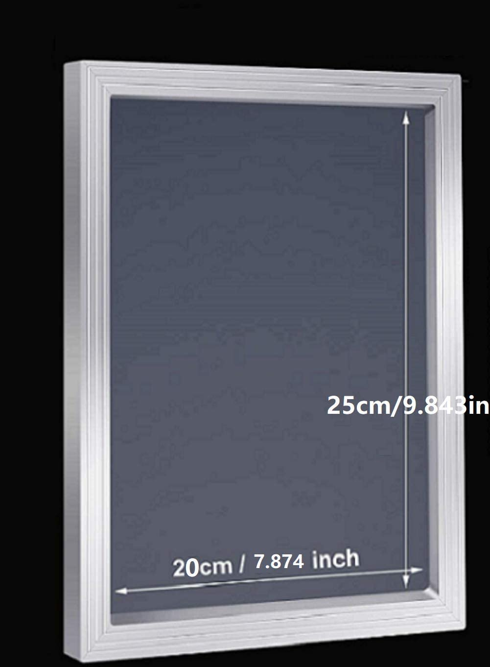 20x25cm 7.87 x 9.84inch Aluminium Screen Printing Frames with 43T//110 White Mesh for Screen Printing