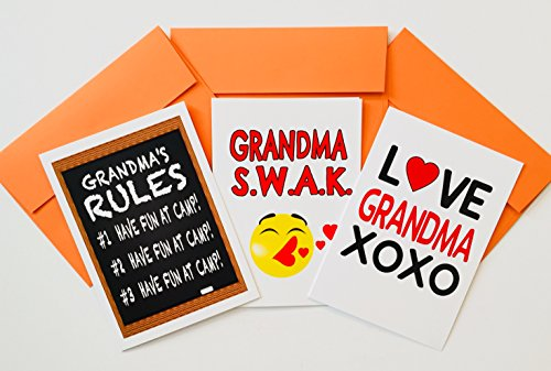 GRANDMA PACK-CAMP GREETING CARDS SET OF (Send Stationery)