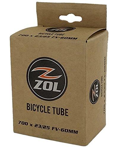 Zol Road Bicycle Bike Inner Tube 700x23/25C PRESTA/FRENCH Valve 60mm (1 PCS) (700x25c Tube)