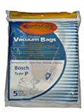 5 Bosch Allergy TYPE P Bags, Premium, Ergomaxx, Megafilt, Super...