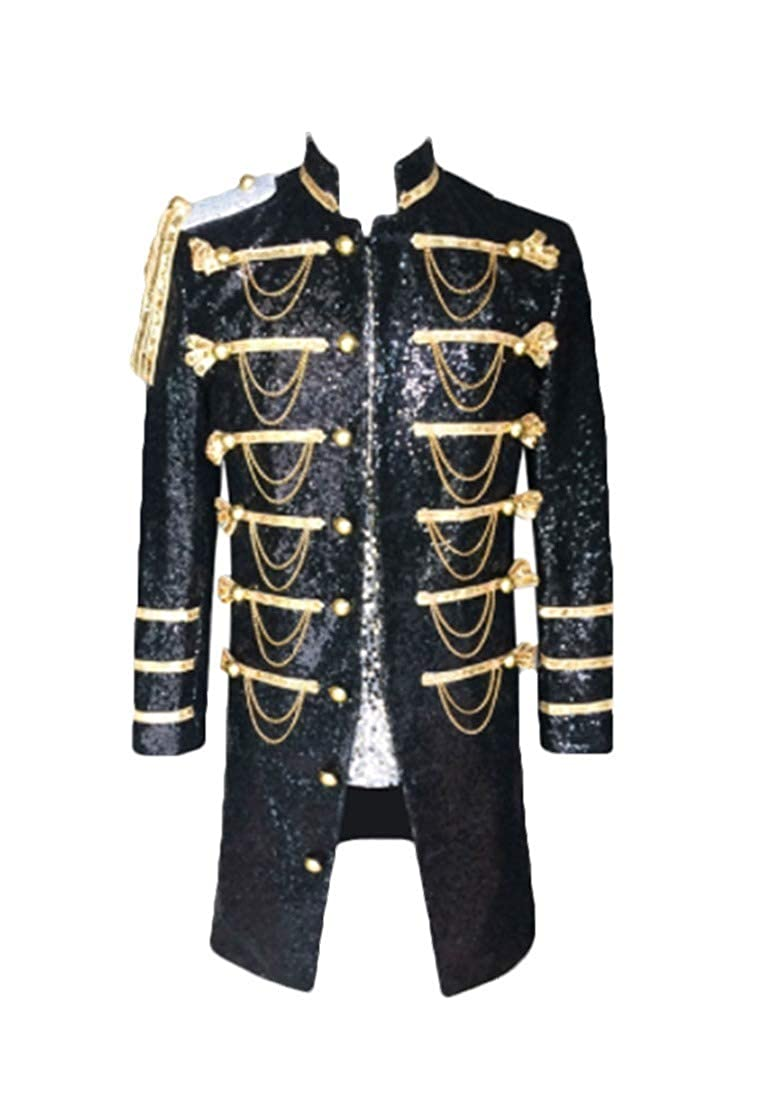 Fseason-Men Stand Collar Tuxedo Stage Baggy Coat Jacket Blazer Outwear