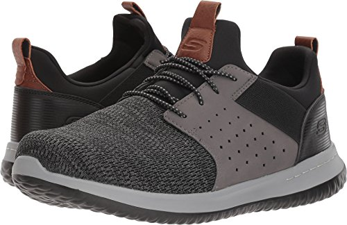 Skechers Men's Classic Fit-Delson-Camden Sneaker,black/Grey,10 M US