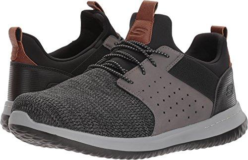 Skechers Men's Classic Fit-Delson-Camden Sneaker,black/Grey,8.5 M US