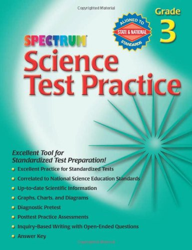 Science Test Practice, Grade 3 (Spectrum)