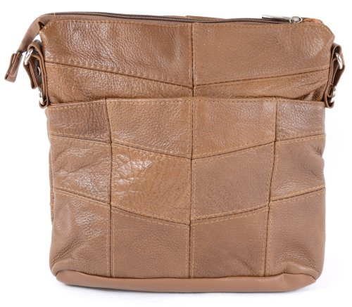 Cowhide Brown Dark Bag Fawn Black Tan Ladies Shoulder Tan or Leather 7nqwdXpxS
