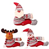 3 Pack Christmas Curtain Buckle, Curtain Tieback Window Screens Buckles Tie Back, Cute Cartoon Doll Holder Curtain Holdback Window Decor - Xmas Decorations Gift