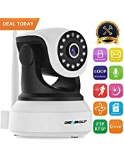 Wireless WiFi IP Security Camera - GENBOLT Indoor Dog Camera Night Vision Pan Tilt CCTV Spy Camera 1080P for Home Surveillance