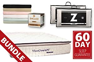 """Bed Boss 13"""" Memory Foam Mattress Combo with Pillowtop Comparable to Tempur-pedic (Queen)"""