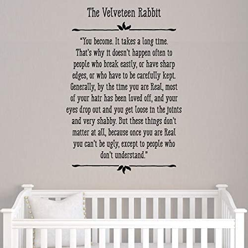 Wall Art Nursery Inspirational Gift ART PRINT Velveteen Rabbit Quote Book